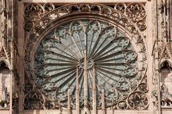 West facade rosette, Strasbourg cathedral