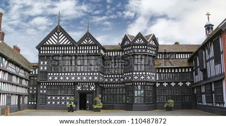 West Front, Bramall Hall, Bramall, Manchester.