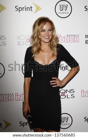WEST HOLLYWOOD - AUG 28: Malin Akerman at the 4th annual Icons & Idols party at the Sunset Tower Hotel in West Hollywood, California on August 28, 2011