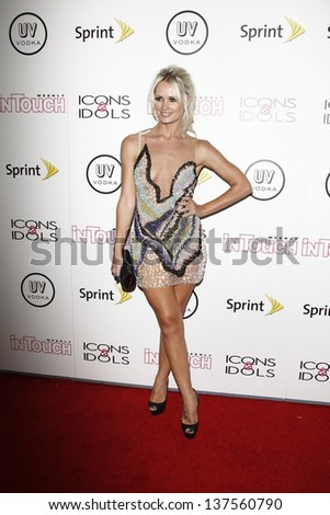 WEST HOLLYWOOD - AUG 28: Peta Murgatroyd at the 4th annual Icons & Idols party at the Sunset Tower Hotel in West Hollywood, California on August 28, 2011 - stock photo