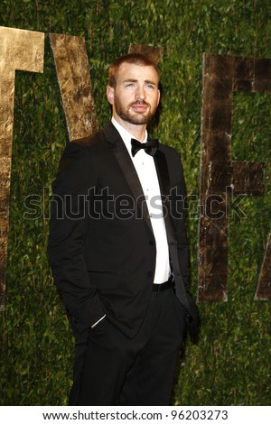 WEST HOLLYWOOD, CA - FEB 26: Chris Evans at the Vanity Fair Oscar Party at Sunset Tower on February 26, 2012 in West Hollywood, California.