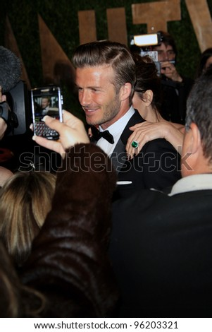 WEST HOLLYWOOD, CA - FEB 26: David Beckham at the Vanity Fair Oscar Party at Sunset Tower on February 26, 2012 in West Hollywood, California. - stock photo