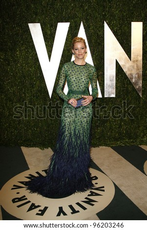 WEST HOLLYWOOD, CA - FEB 26: Elizabeth Banks at the Vanity Fair Oscar Party at Sunset Tower on February 26, 2012 in West Hollywood, California.