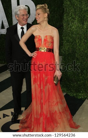 WEST HOLLYWOOD, CA - FEB 24: Elizabeth Banks, Richard Gere at the Vanity Fair Oscar Party at Sunset Tower on February 24, 2013 in West Hollywood, California