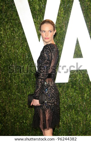 WEST HOLLYWOOD, CA - FEB 26: Kate Bosworth at the Vanity Fair Oscar Party at Sunset Tower on February 26, 2012 in West Hollywood, California.