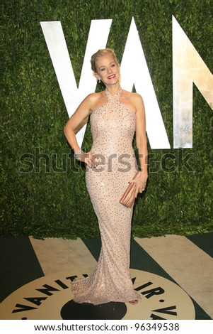 WEST HOLLYWOOD, CA - FEB 26: Penelope Ann Miller at the Vanity Fair Oscar Party at Sunset Tower on February 26, 2012 in West Hollywood, California.
