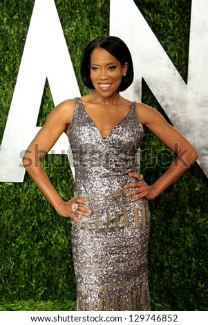 WEST HOLLYWOOD, CA - FEB 24: Regina King at the Vanity Fair Oscar Party at Sunset Tower on February 24, 2013 in West Hollywood, California
