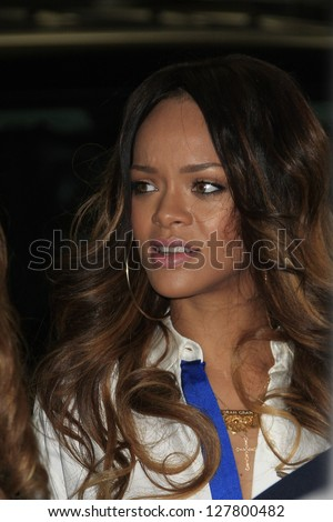 WEST HOLLYWOOD, CA - FEB 9: Rihanna is seen out for lunch before the Grammy awards on February 9, 2013 in West Hollywood, California
