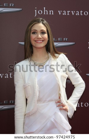 WEST HOLLYWOOD, CA - MARCH 11: Emmy Rossum at the 9th Annual John Varvatos Stuart House Benefit on March 11, 2012 in West Hollywood, California