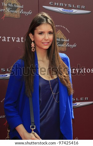 WEST HOLLYWOOD, CA - MARCH 11: Nina Dobrev at the 9th Annual John Varvatos Stuart House Benefit on March 11, 2012 in West Hollywood, Californiaa - stock photo