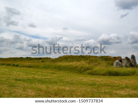 West Kennet Long Barrow exterior, Wiltshire, England. #1509737834