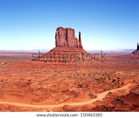 West Mitten Butte, Monument Valley, Utah/Arizona, United States of America.