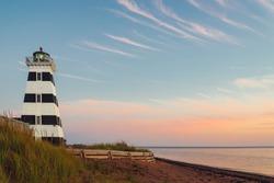 West Point Lighthouse at dusk (Prince Edward Island, Canada)