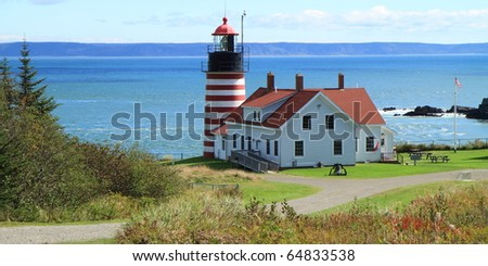 West Quoddy Head Light, panoramic view