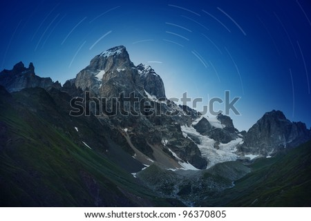 west side of Mount Ushba, Caucasus