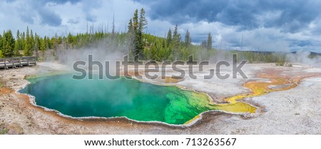 West Thumb Geyser Basin in Yellowstone National Park, USA