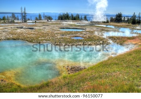 West Thumb Geyser Basin of Yellowstone