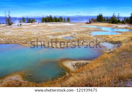 West Thumb Geyser Basin of Yellowstone, United States