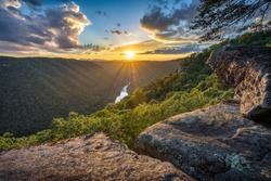 West Virginia, Beauty Mountain, scenic sunset