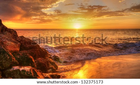 Western Australian Coastline at sunset