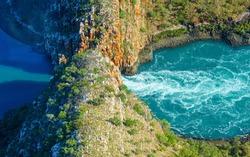 Western Australian Horizontal Waterfalls aerial