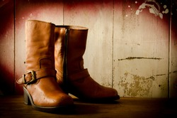 Western cowboy boots ,Still life vintage style