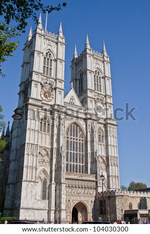 Westminster Abbey in London, UK