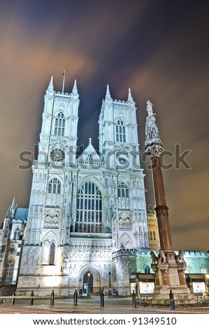 Westminster Abbey located at London, England
