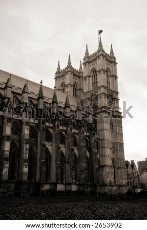 Westminster Abbey- London - stock photo