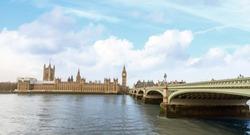 Westminster, BigBen and Westminster bridge, London.
