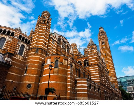 Westminster Cathedral catholic church in London, UK (high dynamic range)