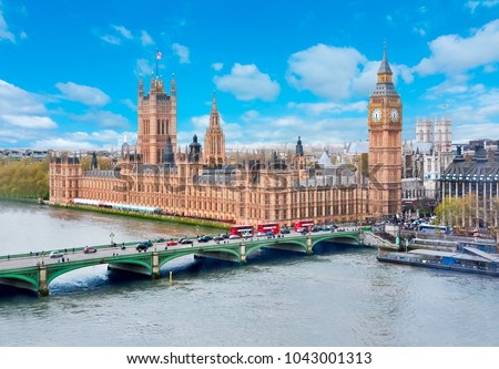 Westminster palace (Houses of Parliament) and Big Ben, London, UK