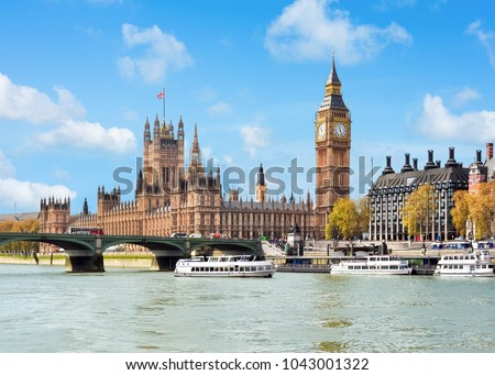 Westminster palace (Houses of Parliament) and Big Ben tower, London, UK