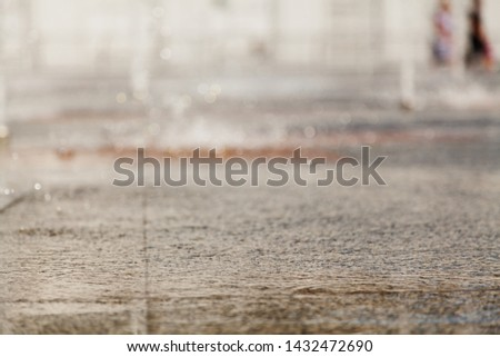 Wet abstraction. Wet horizontal granite surface