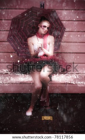 Wet Action Shot Of A Ballerina In Leotard Sitting On A Fire Hydrant Gushing Splashing And Spraying Water Droplets In A Beautiful And Elegant Splash Dancing Pic