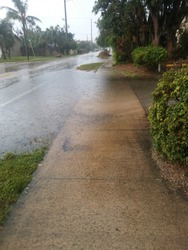 Wet and rainy day after Hurricane Irma
