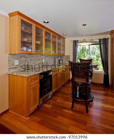 Wet bar in a house