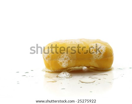 Wet Bar of Soap - stock photo