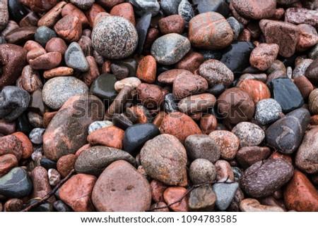 Wet Beach Rocks #1094783585