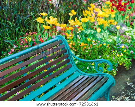 Wet bench in the park