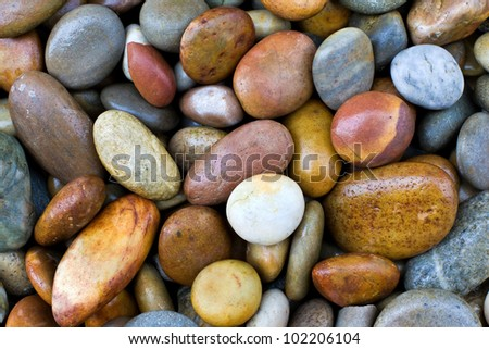 wet colored stones background