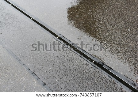 Wet concrete. #743657107