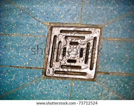 Wet drain in the bathroom
