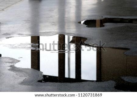 wet floor background #1120731869