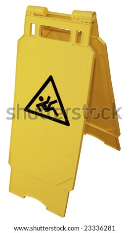 Wet floor sign (Contains Clipping Path)