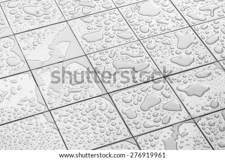 Wet Floor Square Tile #276919961