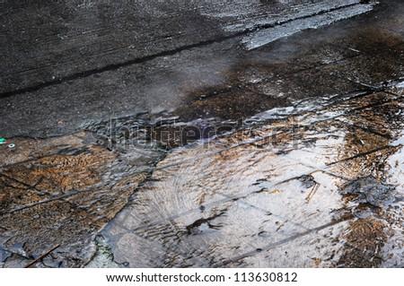 wet footpath