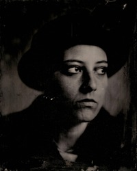 Wet plate 8x10 inch. Real wet plate collodion photography with silver bath, shooted with a 150 years brass lens. Tintype. Large format.