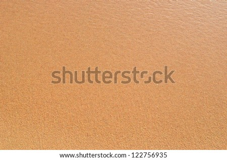 wet sand great as background - stock photo
