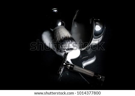 wet shaving kit with safety razor #1014377800